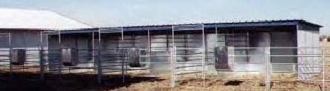 STEEL RUN IN SHEDS/LOAFING SHEDS