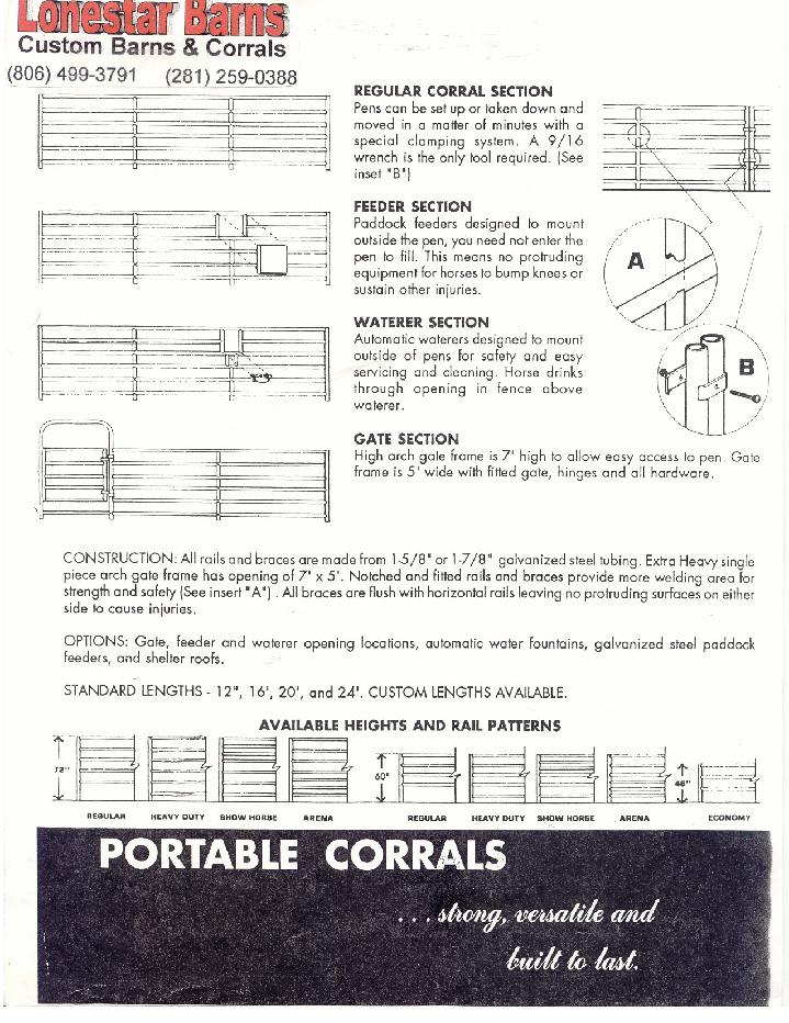 Corral Panels, Livestock Panels, Cattle Panels