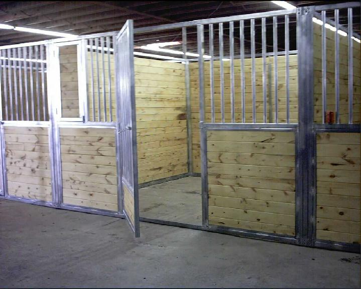 FREE STANDING TONGUE AND GROOVE BARN STALLS