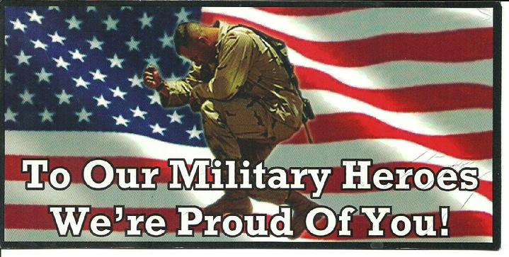 GOD BLESS OUR MILITARY HEROS