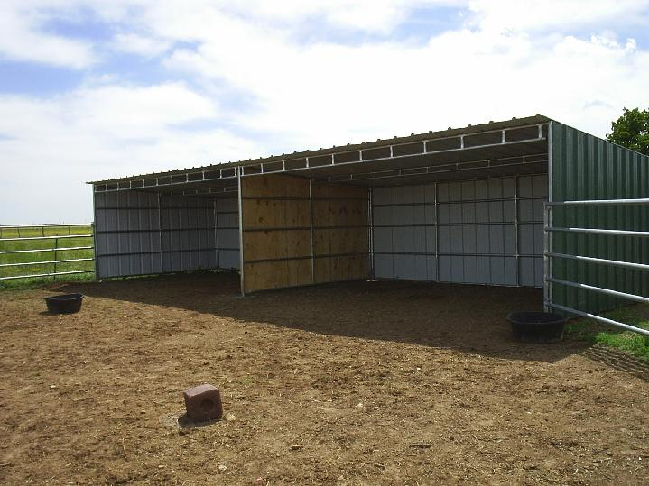 Horse Shelter Loafing Shed Plans