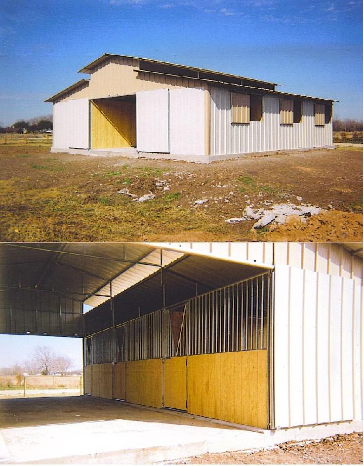 BARN WITH T1-11 INTERIOR AND YOKE DOORS