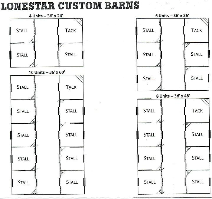 STANDARD BARN FLOOR PLANS TEXAS BARNS